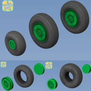 1/48 Aero L-29 Delfin wheels set – No Mask series