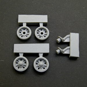 1/35 T-34 SU 1940 Idler Wheels (early type) with rubber bandage, type 1 + cranks.