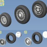 1/48 SAAB J-37 Viggen wheels set – No Mask series