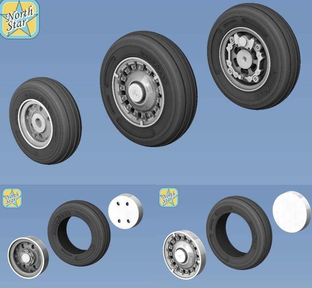 NEW 1/48 and 1/35 wheels set for modern plane and helicopters AH-60, SH-60, MiG-25, L-29, L-39, SAAB J35 and J37